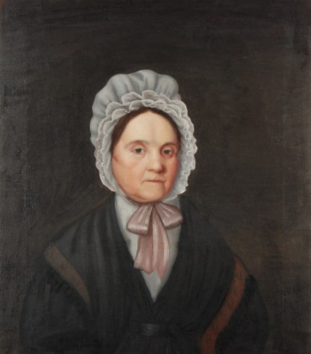 Unidentified Artist, Portrait of Mrs. Willoughby, c. 1830, oil on canvas.  This treatment was conducted without removing the fabric support from its original strainer.  After the torn section was locally stabilized, the fabric remained strong enough to support itself, and it was highly desirable not to disturb the original tacks or alter the original support.