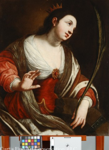 Unidentified Artist after Jacques Blanchard, Saint Catherine of Alexandria, after 1630, oil on canvas.